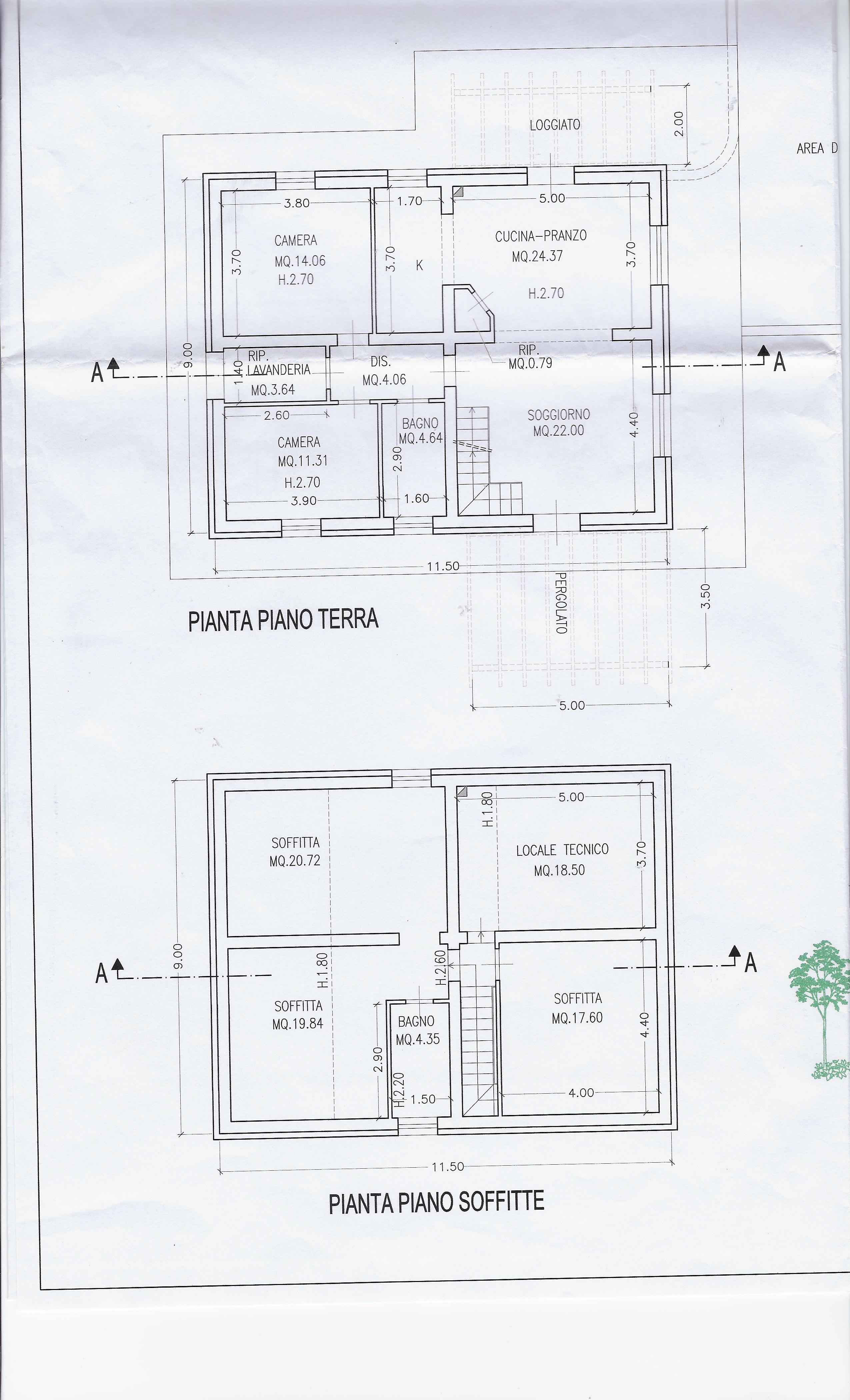 Planimetria 1/2 per rif. 2071