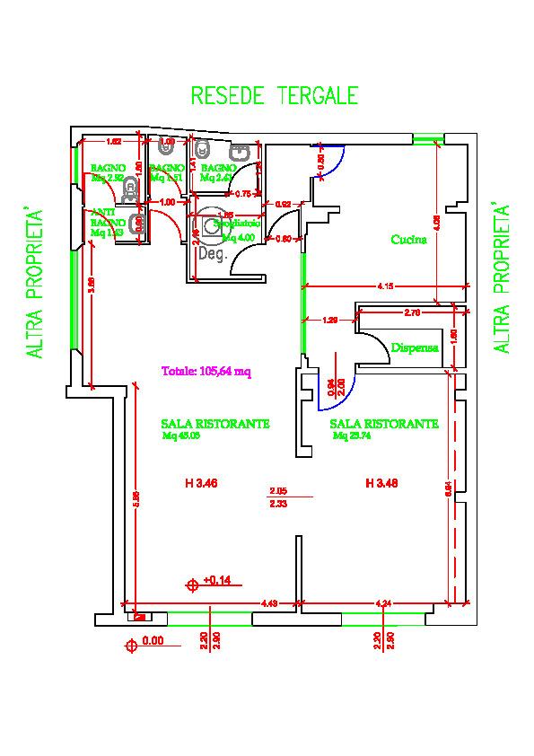 Planimetria 1/1 per rif. F. 434