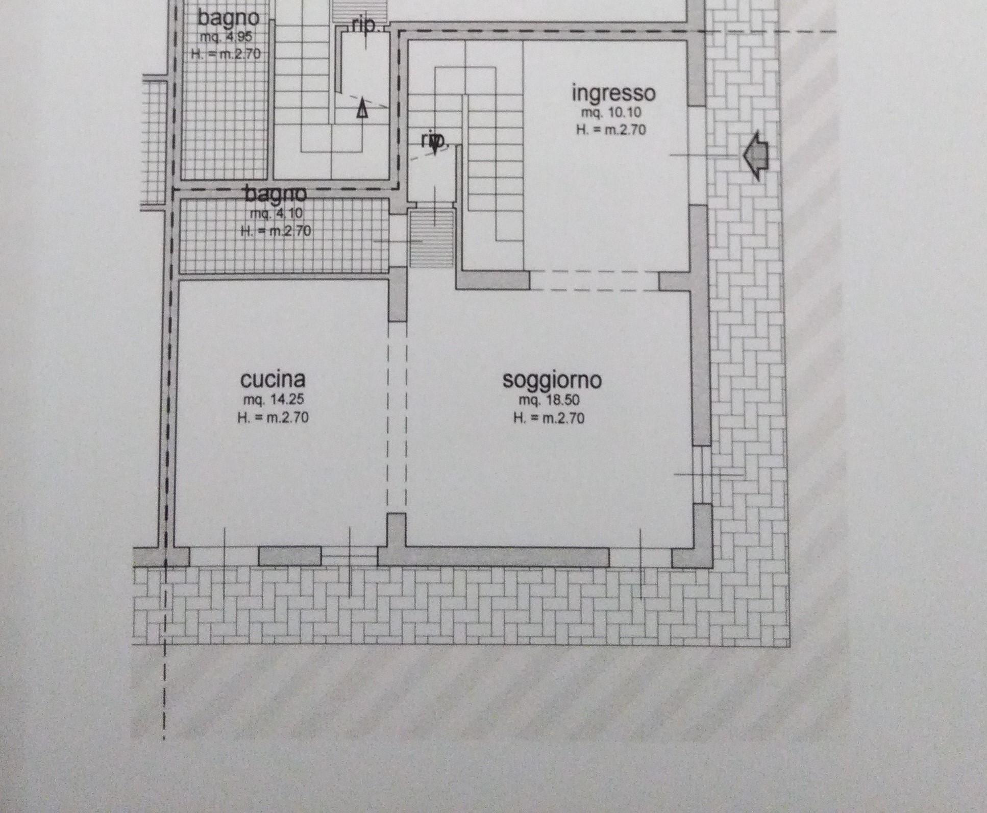 Planimetria 1/3 per rif. 2088