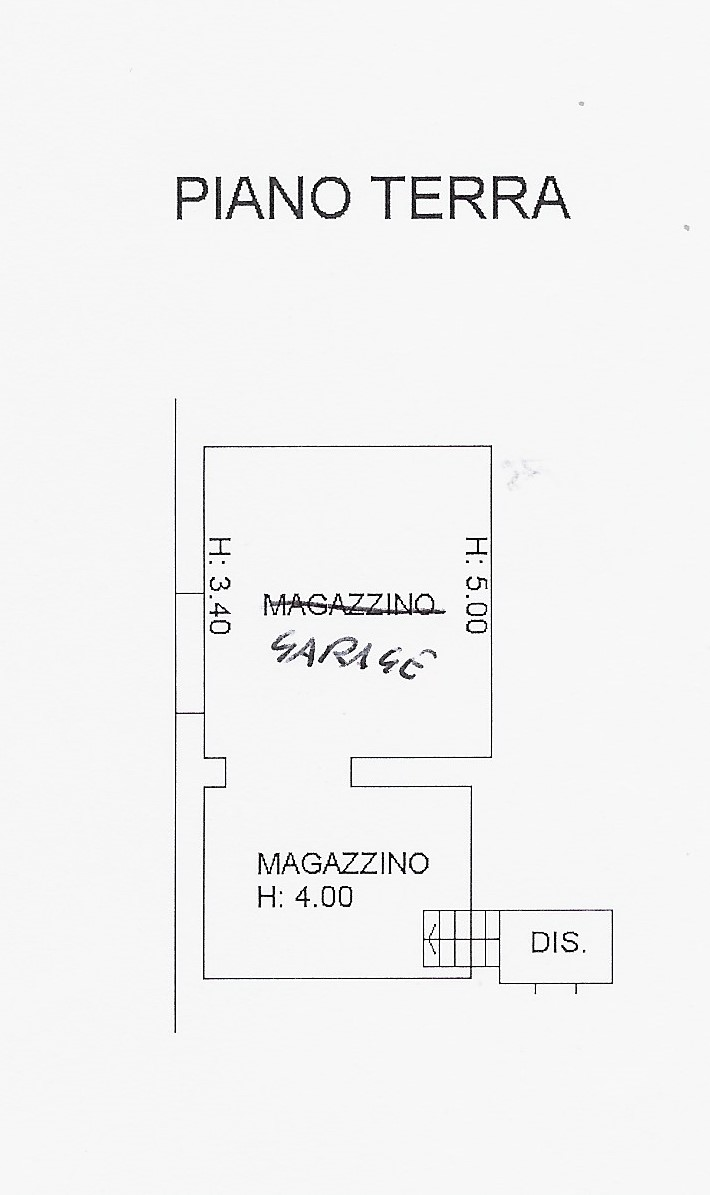 Planimetria 3/4 per rif. 2090
