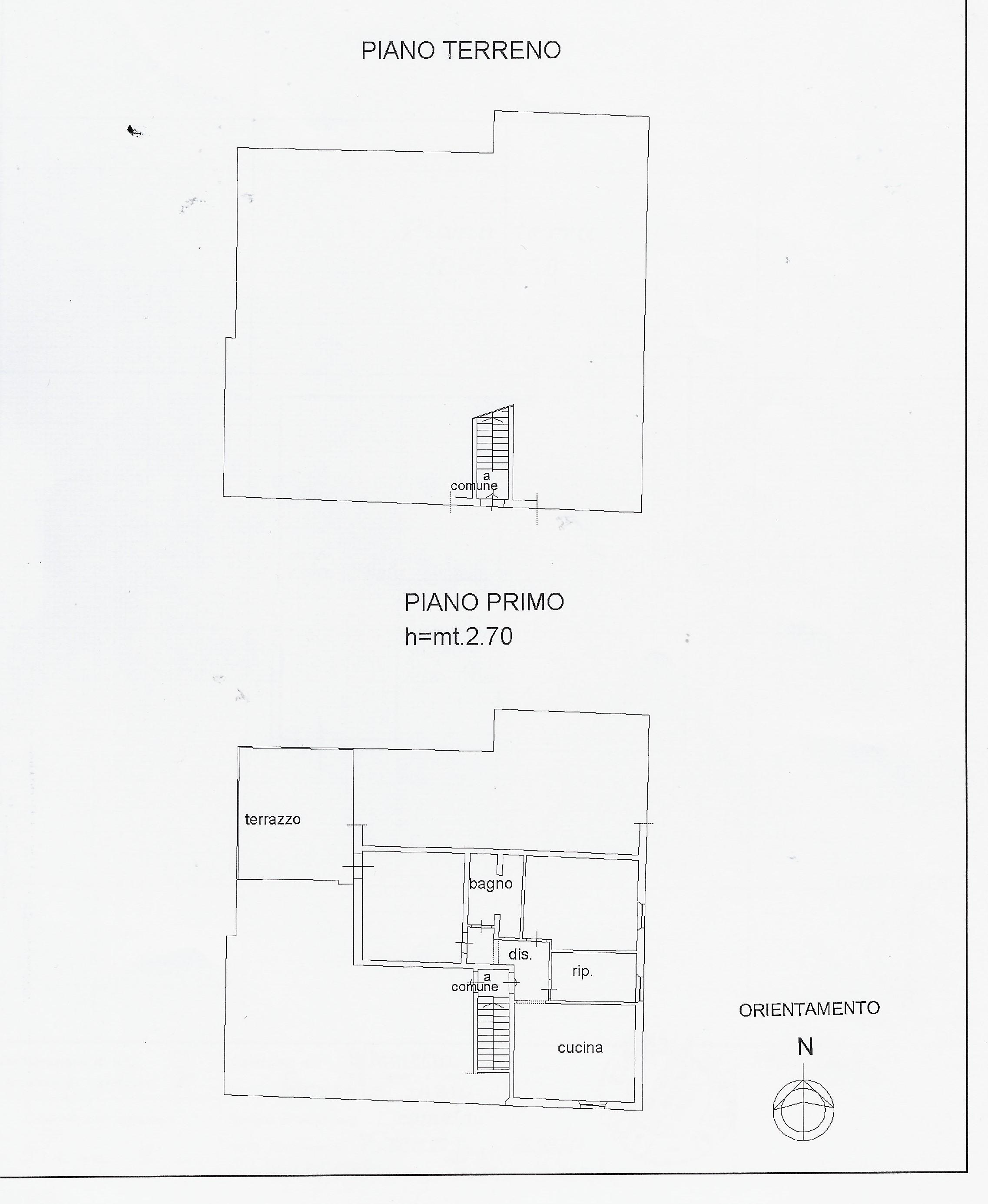 Planimetria 3/4 per rif. 2096