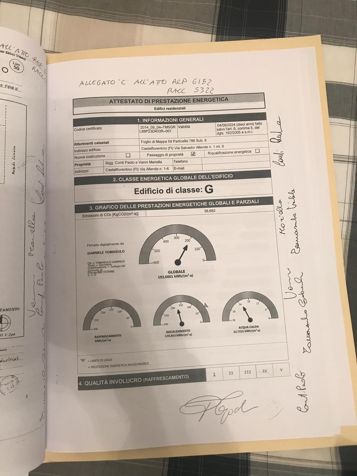 Planimetria 1/1 per rif. 2099