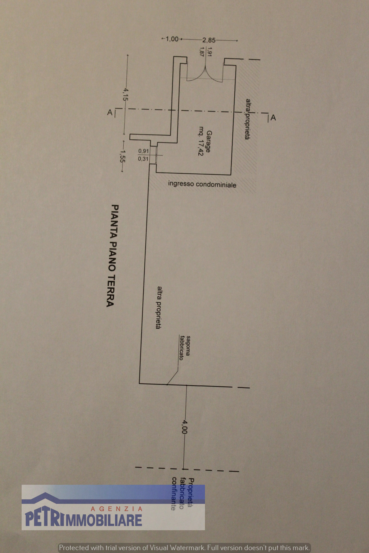 Planimetria 2/2 per rif. 2113