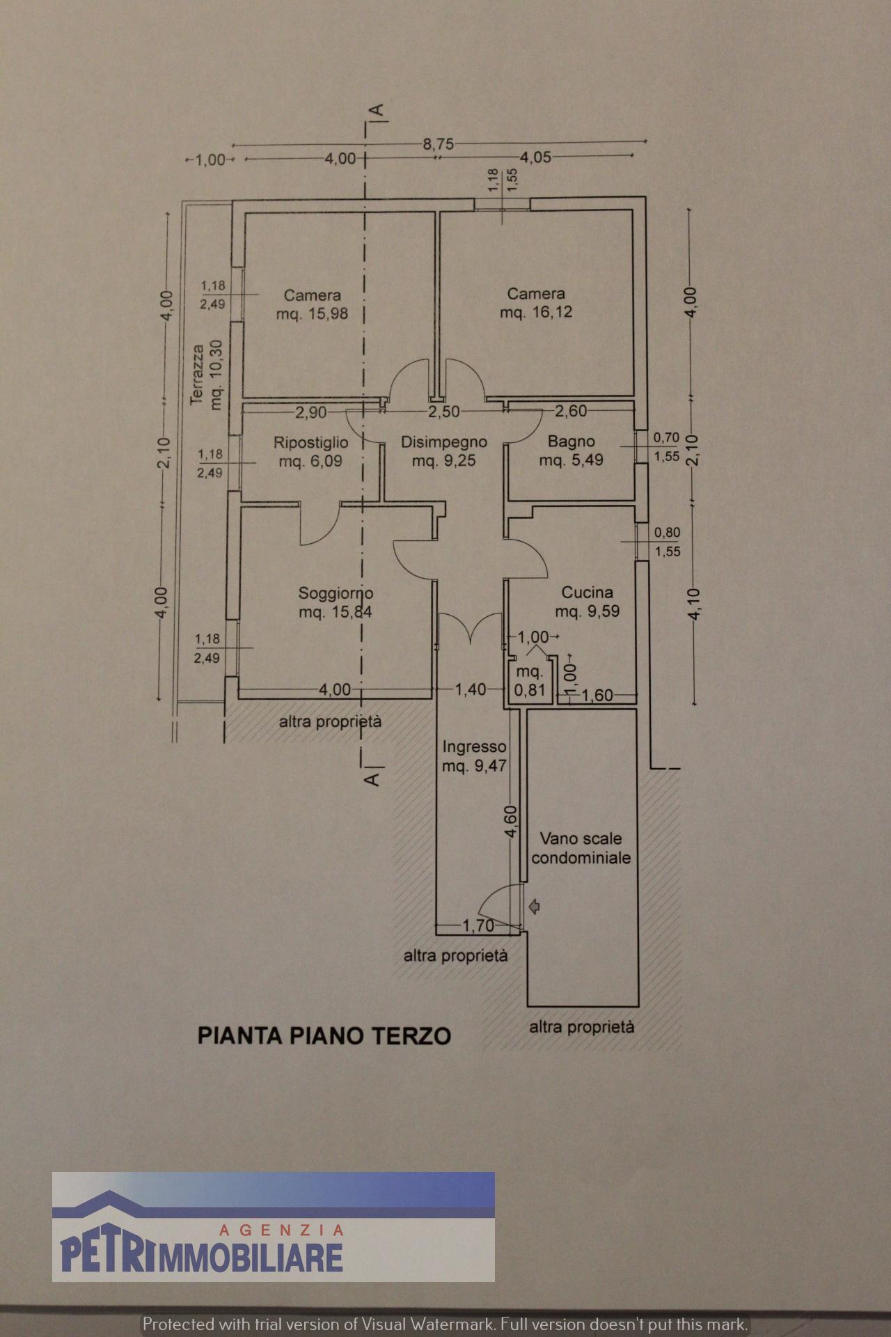 Planimetria 1/2 per rif. 2113