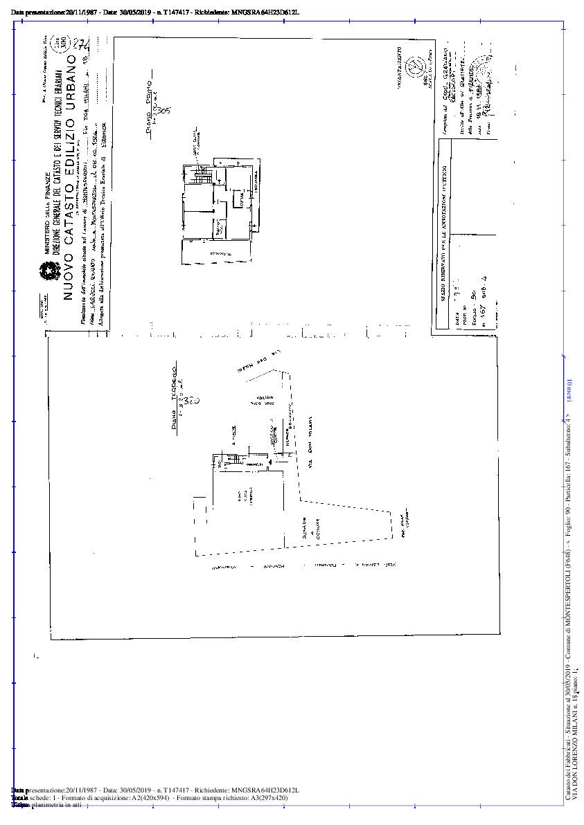 Planimetria 1/2 per rif. 2142