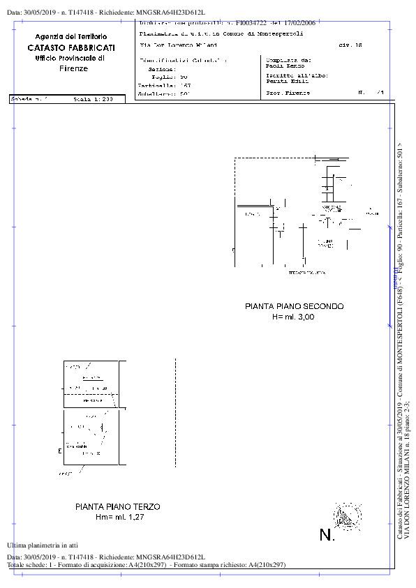 Planimetria 2/2 per rif. 2142