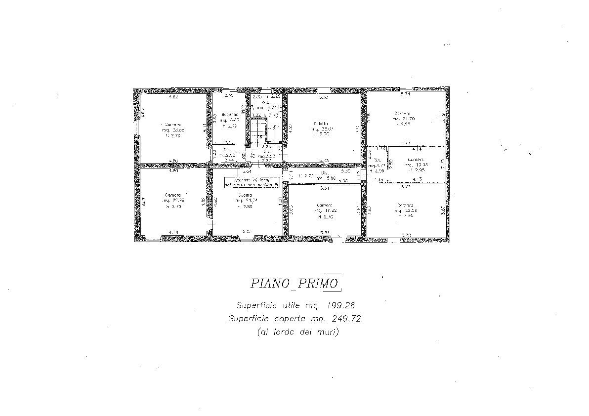 Planimetria 1/1 per rif. 2151