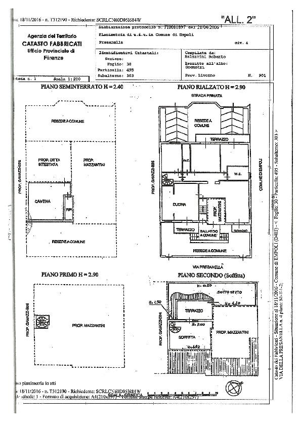 Planimetria 1/1 per rif. 2153