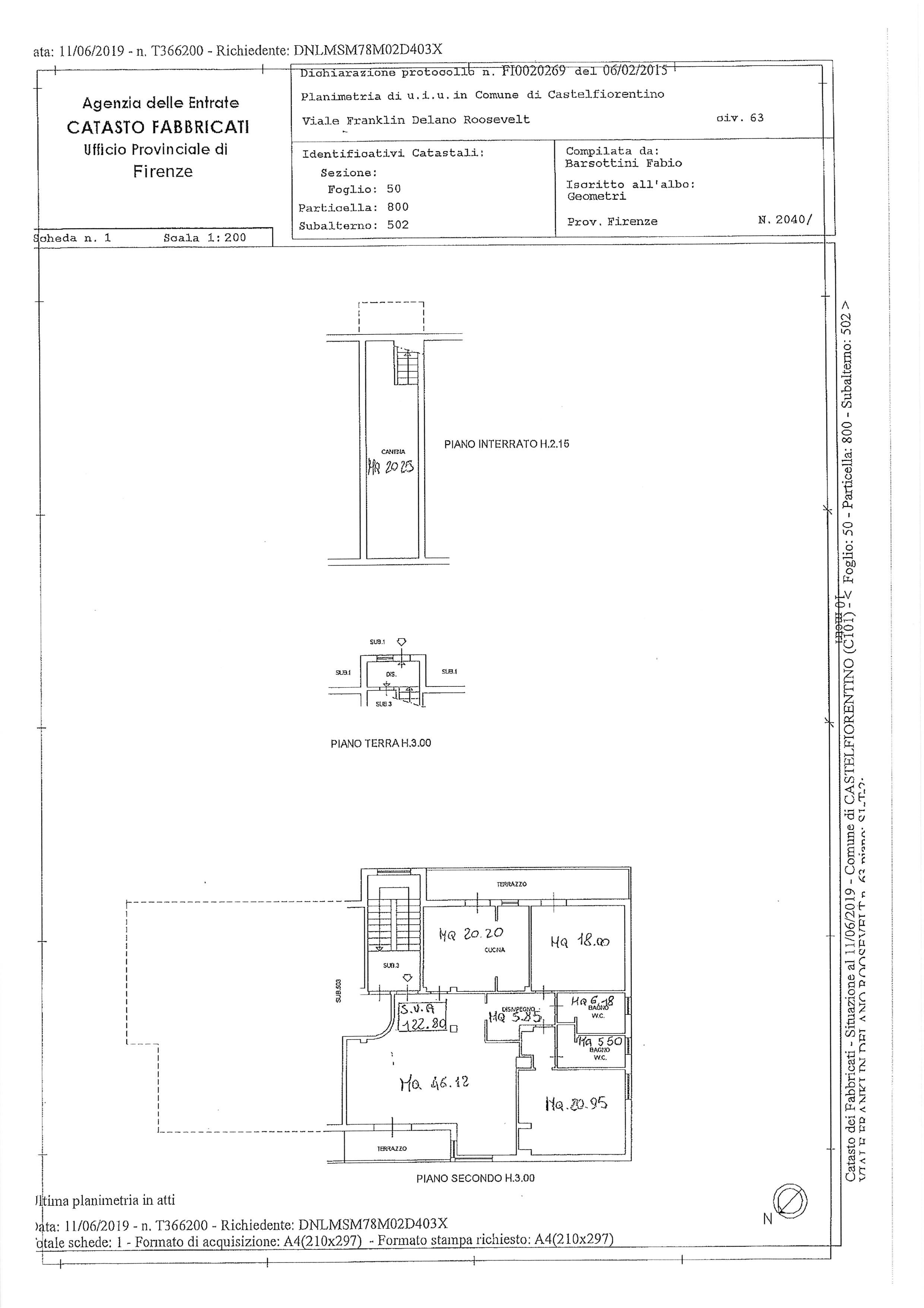 Planimetria 1/1 per rif. 2195