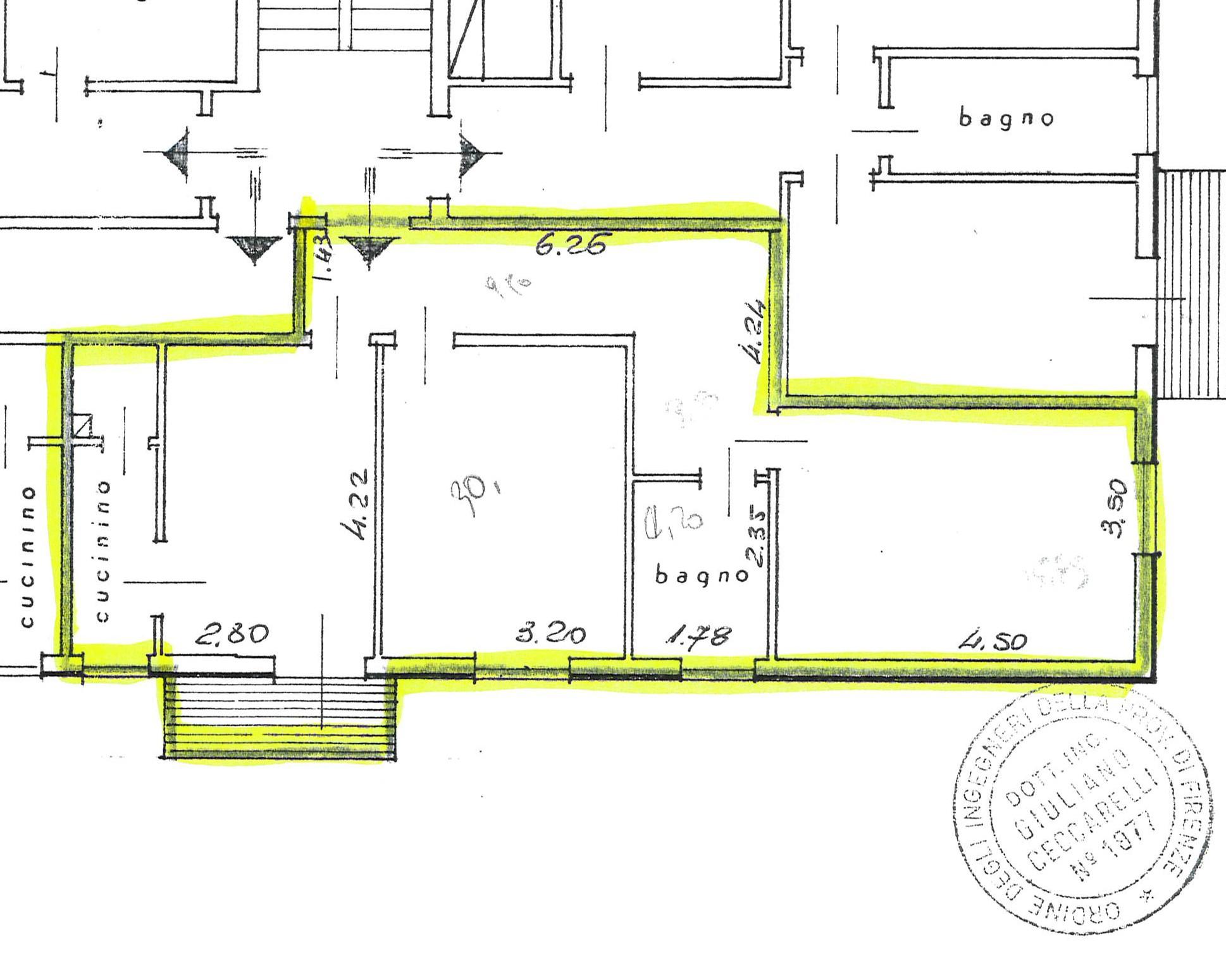 Planimetria 1/1 per rif. 2199
