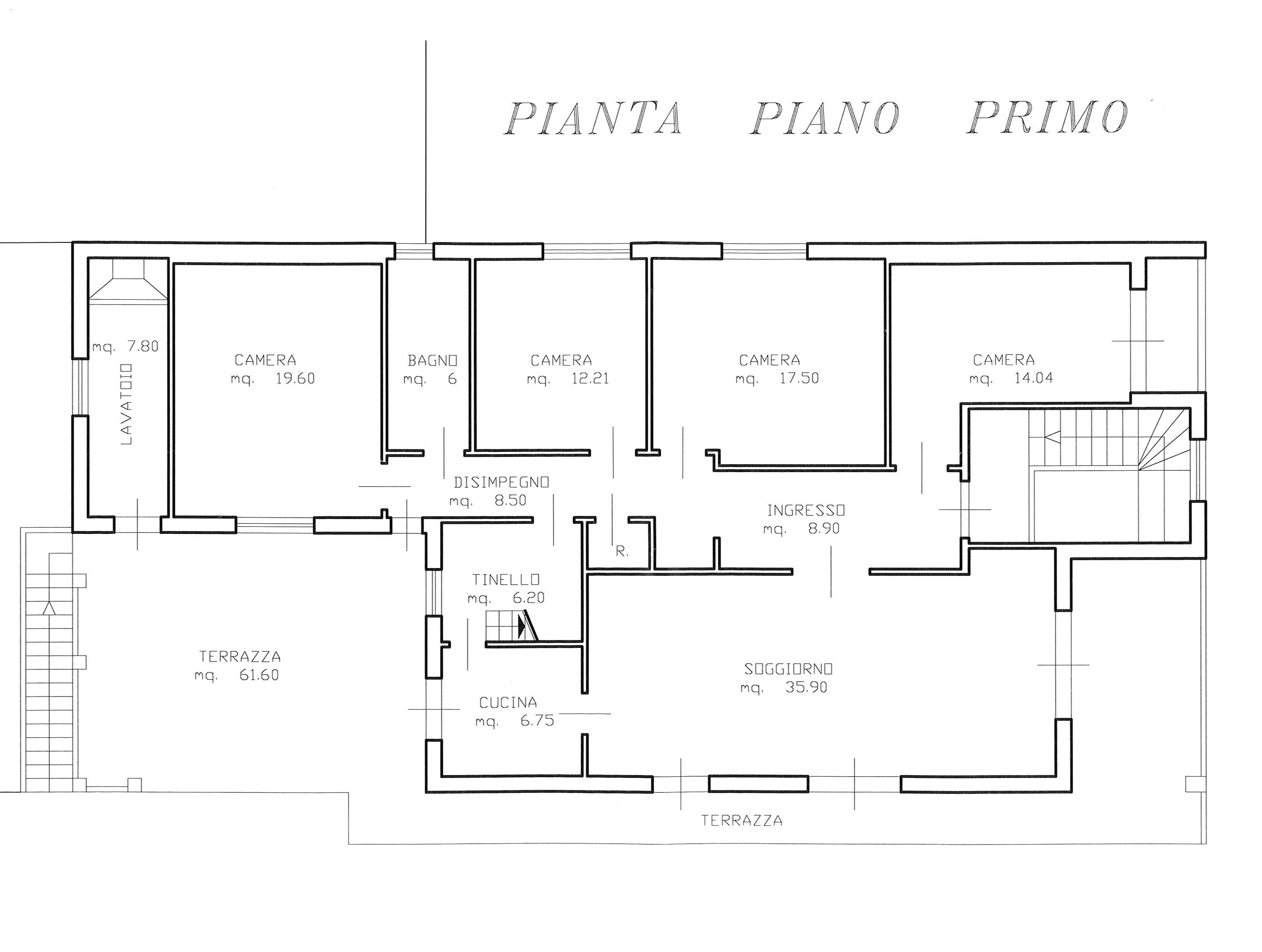 Planimetria 1/2 per rif. 2205