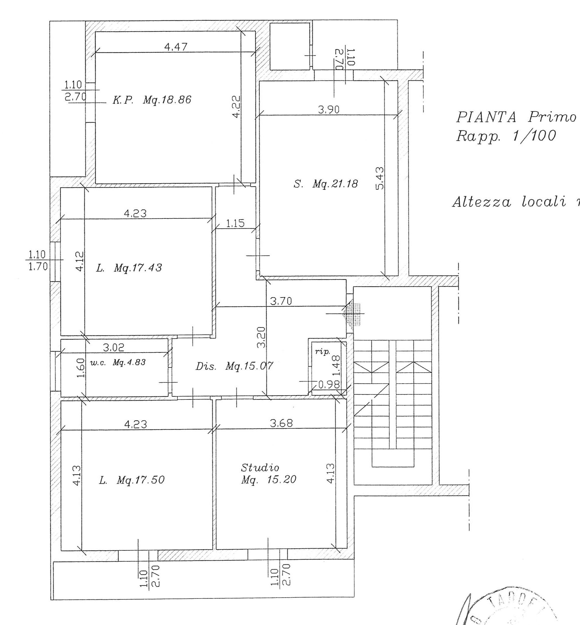 Planimetria 1/1 per rif. 2209