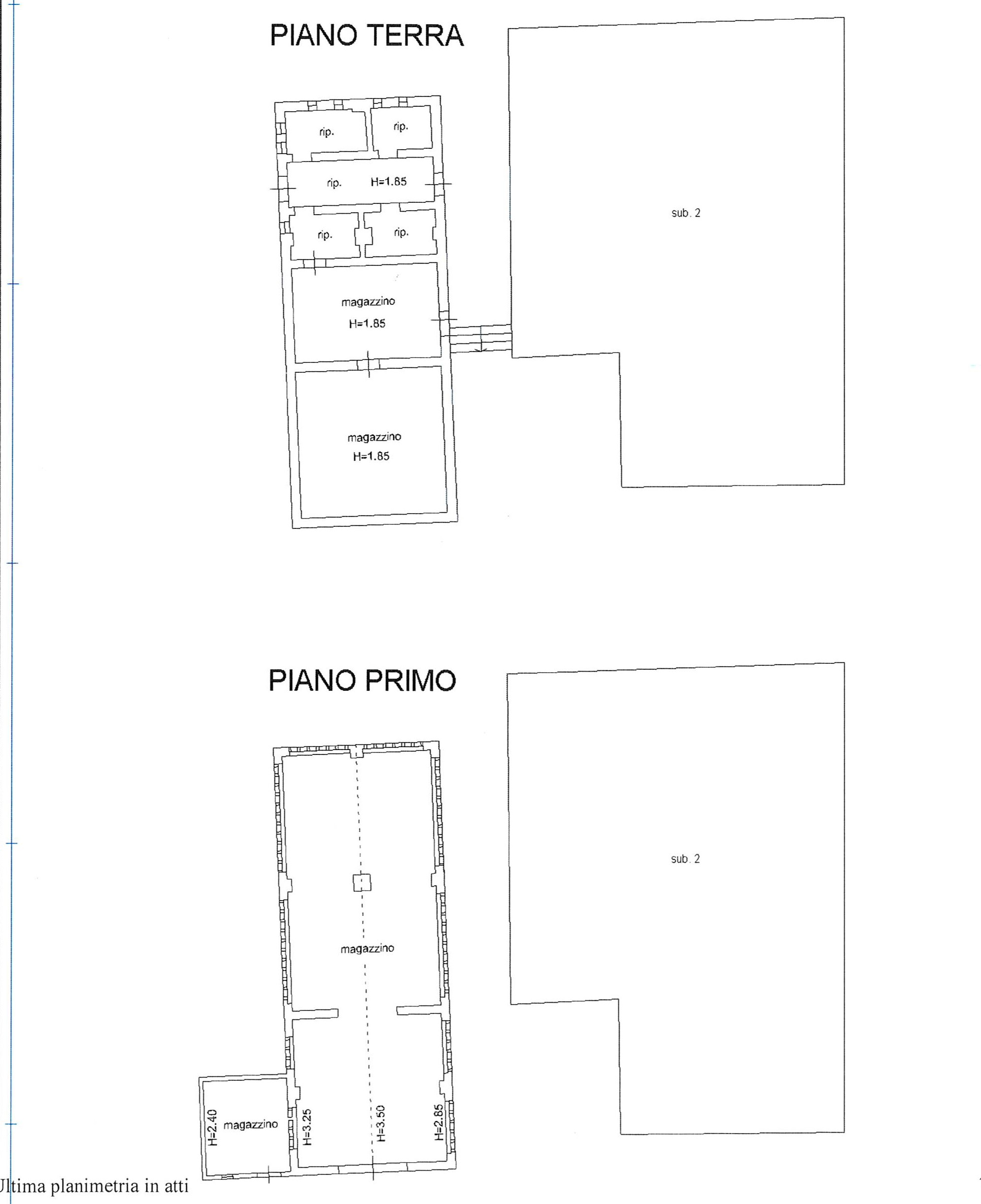Planimetria 2/3 per rif. 2212
