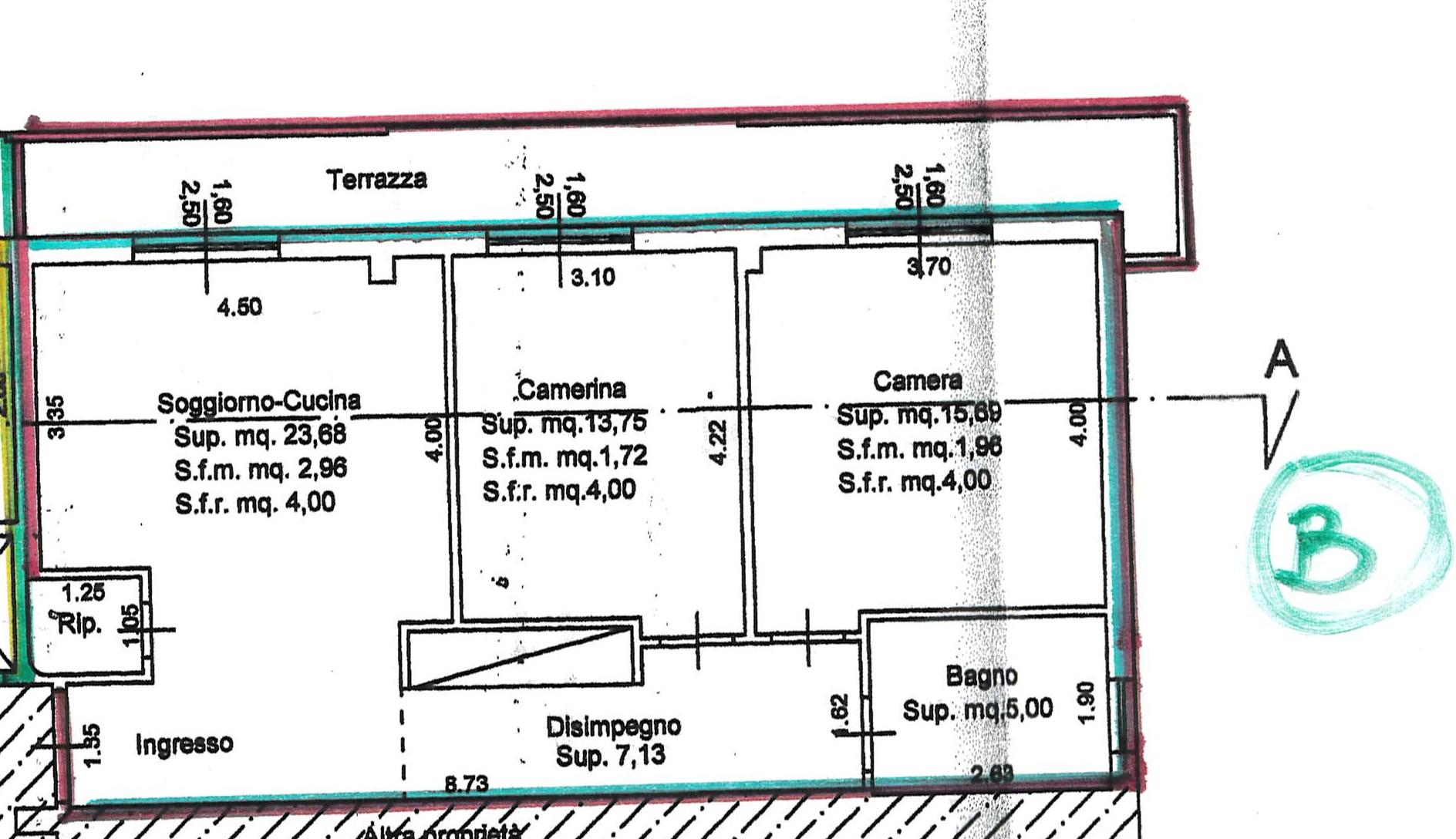 Planimetria 1/1 per rif. 2217