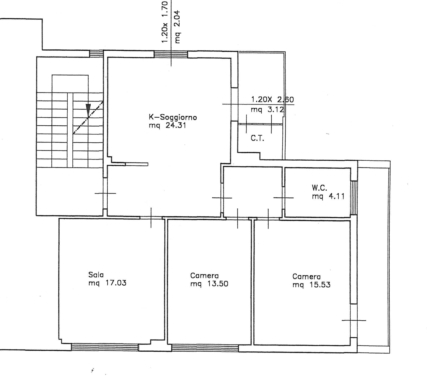 Planimetria 1/1 per rif. 2218