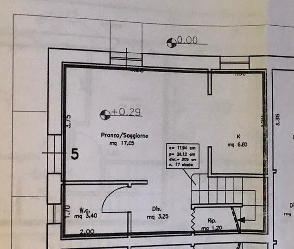 Planimetria 1/3 per rif. 2223