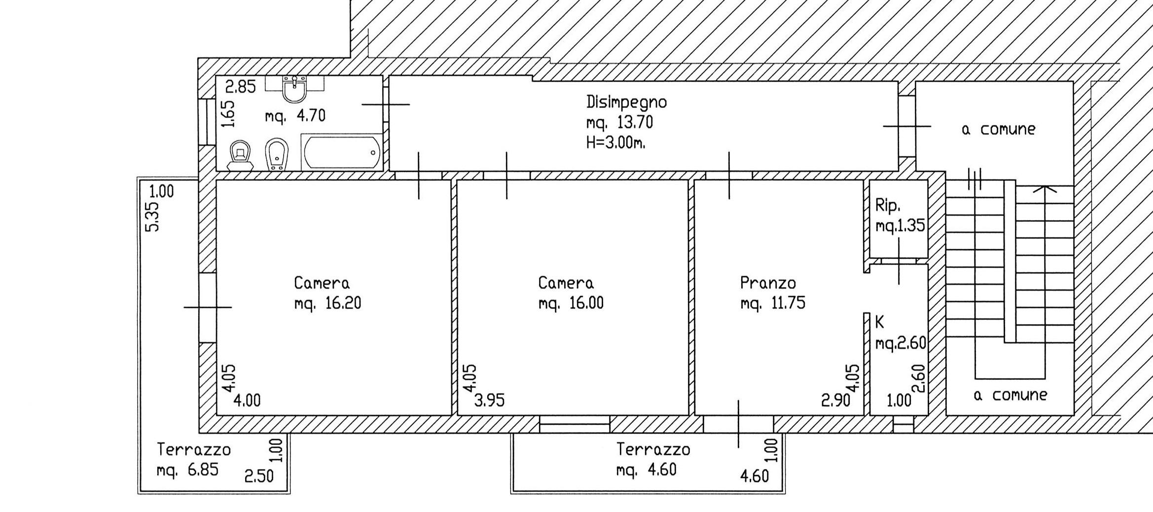 Planimetria 1/3 per rif. 2233
