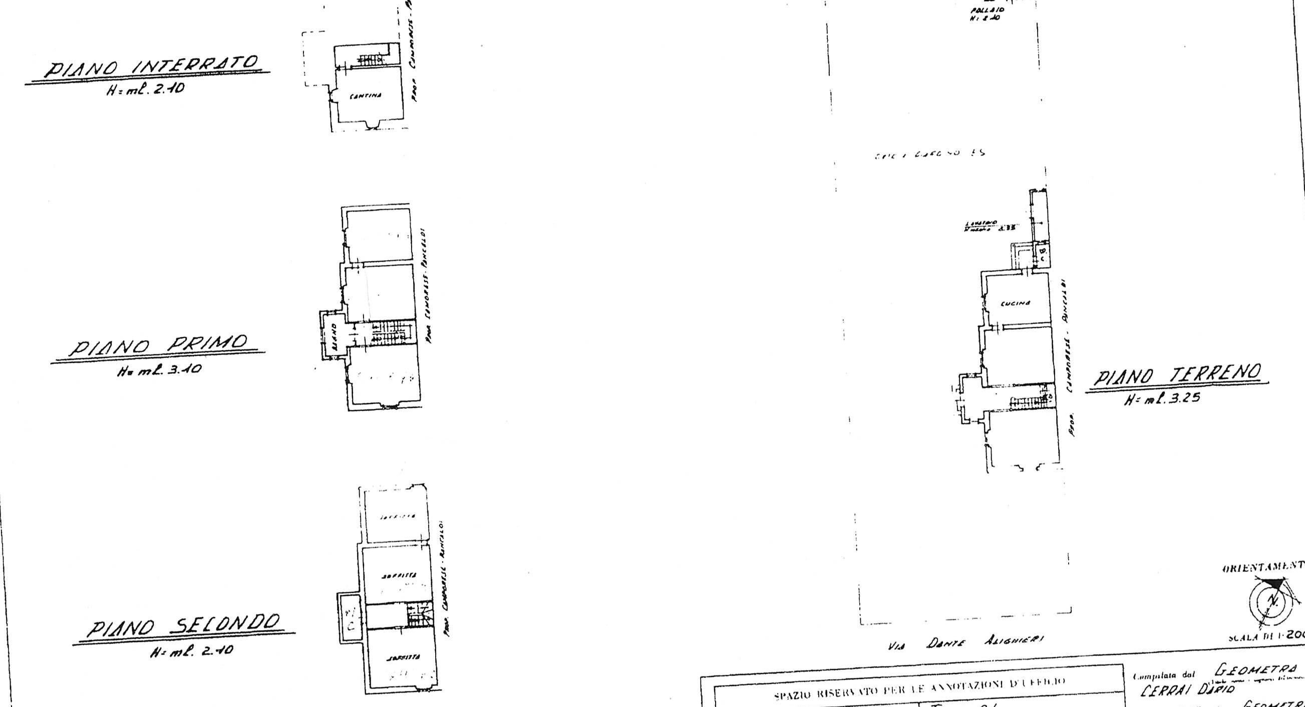 Planimetria 1/1 per rif. 2241
