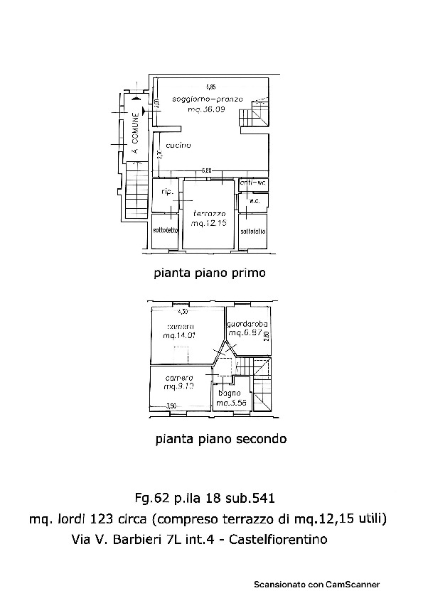 Planimetria 1/1 per rif. 2248