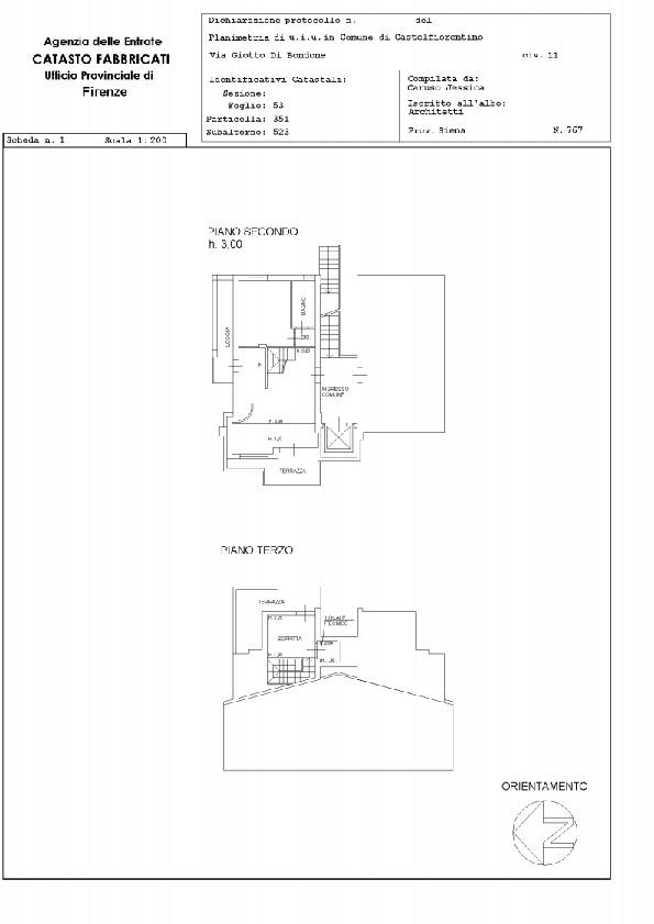 Planimetria 1/1 per rif. 2249