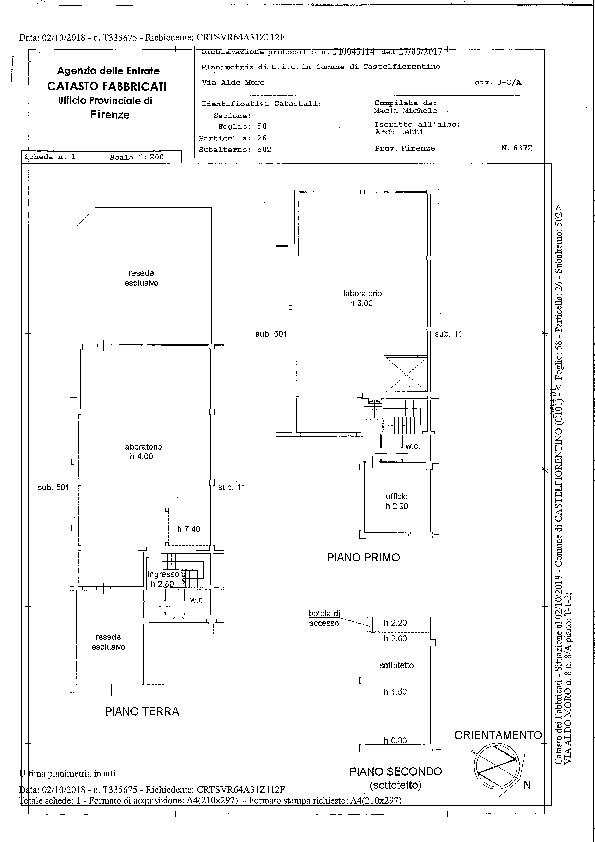 Planimetria 1/1 per rif. 2252