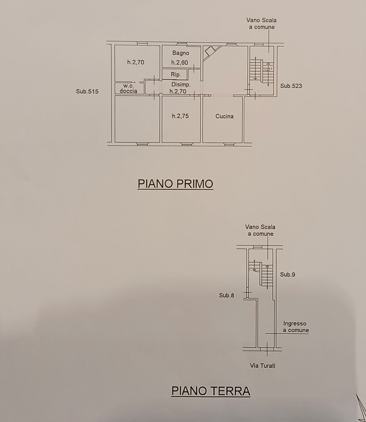 Planimetria 1/2 per rif. 2253