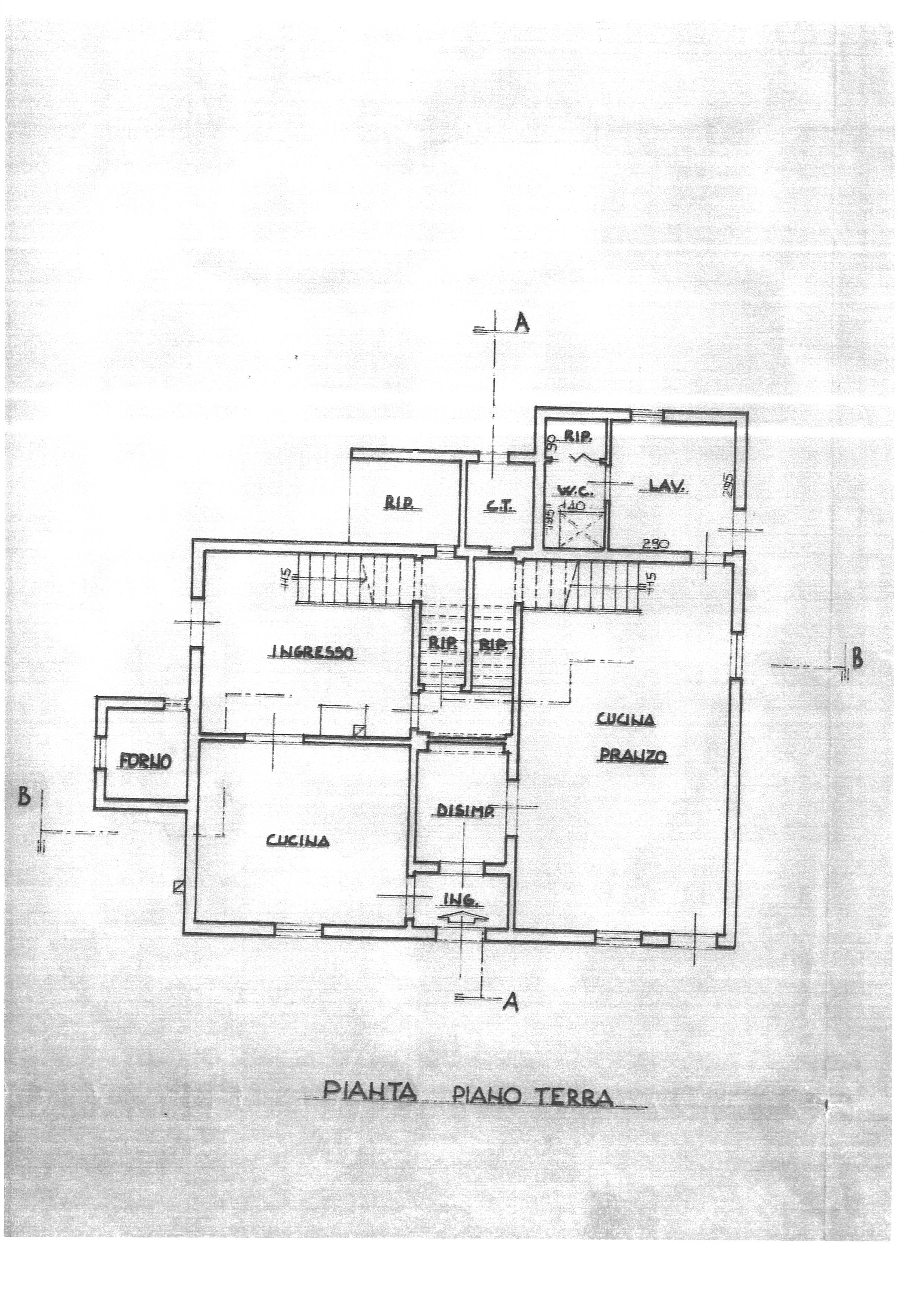 Planimetria 1/2 per rif. 2257