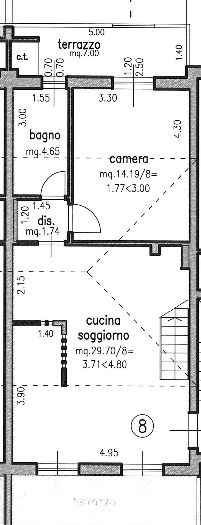 Planimetria 1/2 per rif. 2266