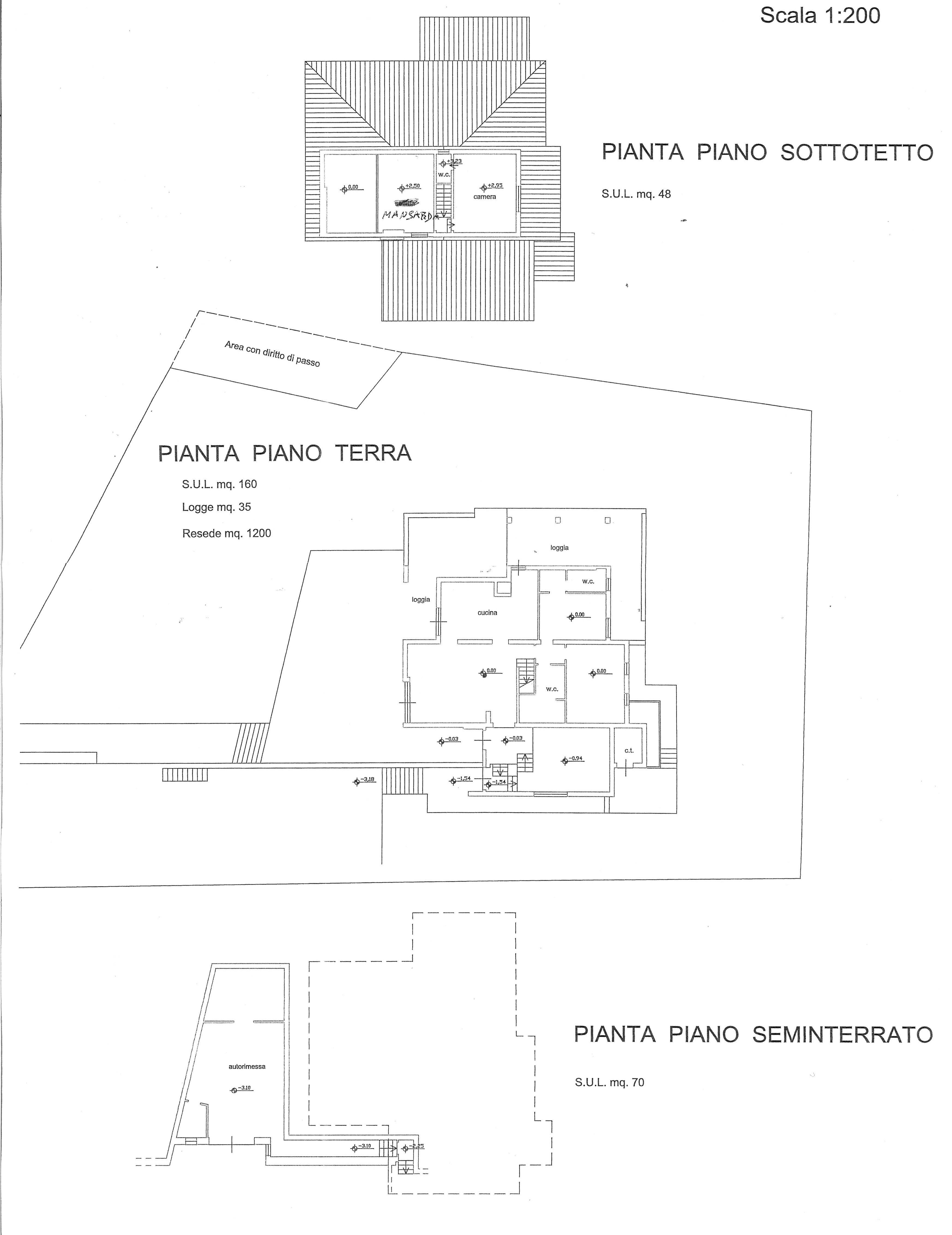 Planimetria 1/1 per rif. 2271