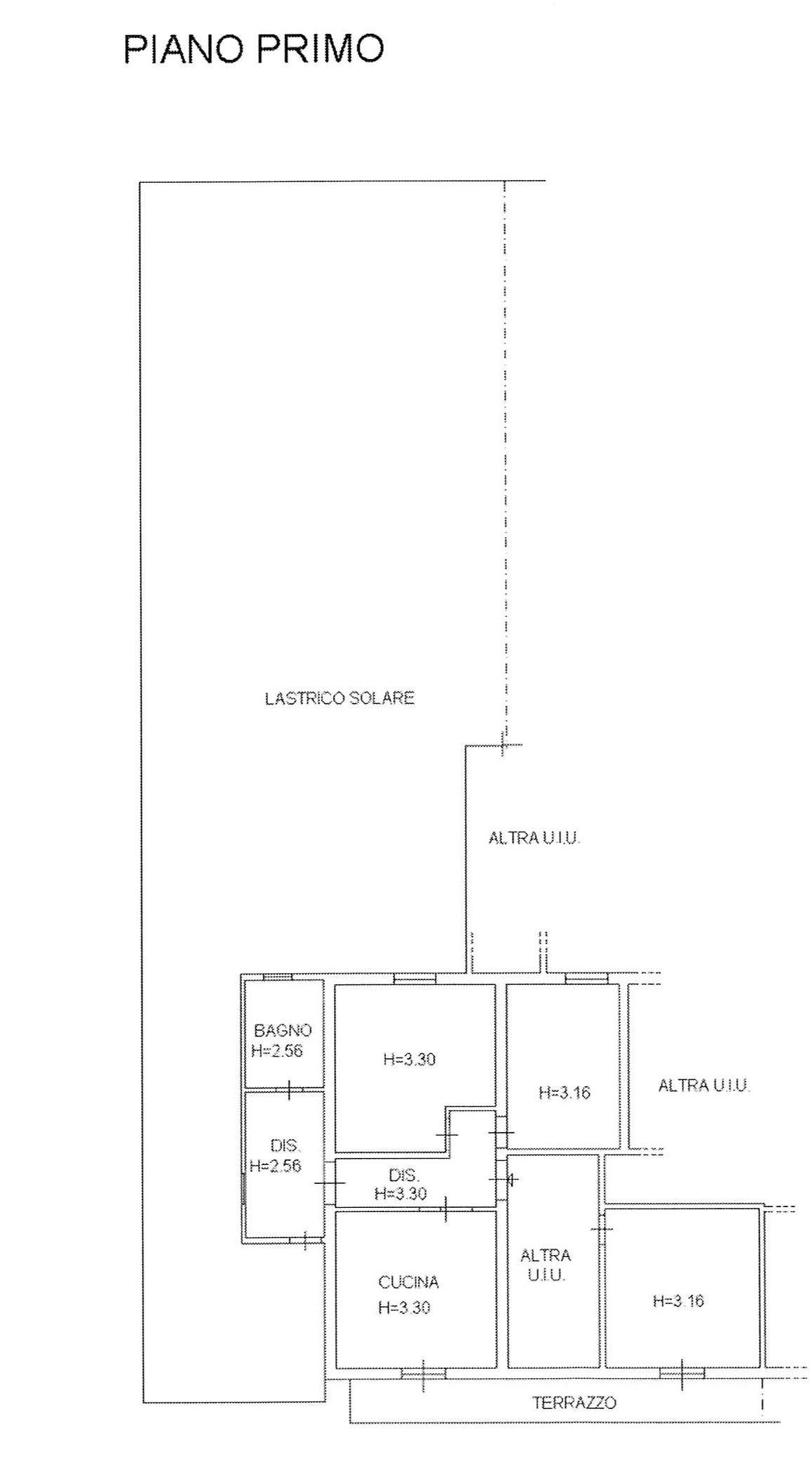 Planimetria 1/2 per rif. 2272