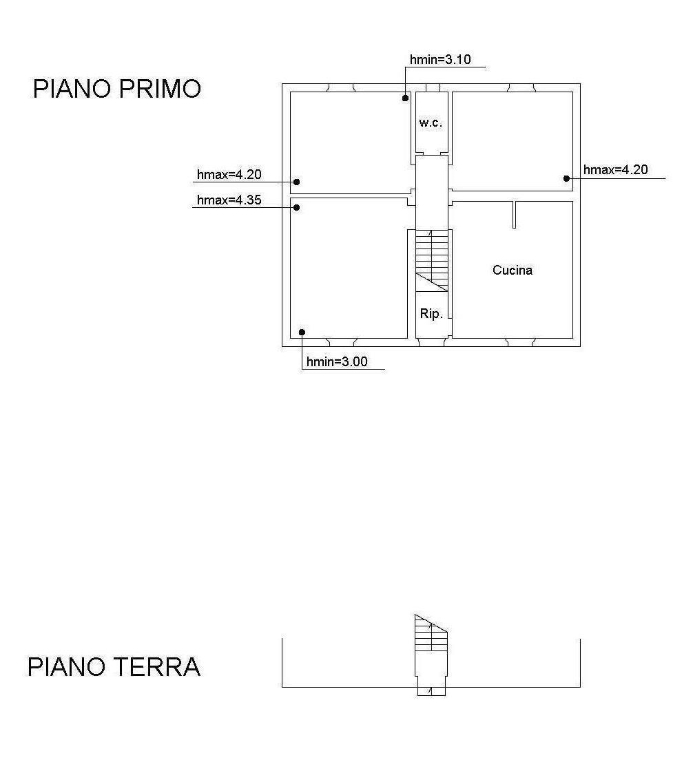 Planimetria 2/3 per rif. 2282
