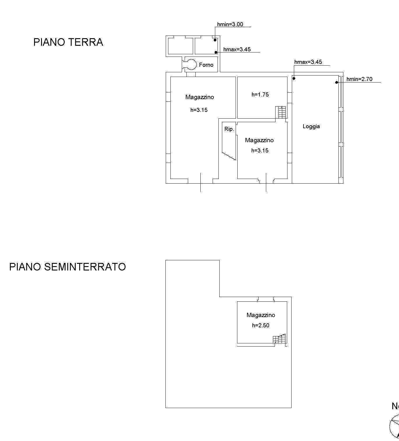 Planimetria 1/3 per rif. 2282