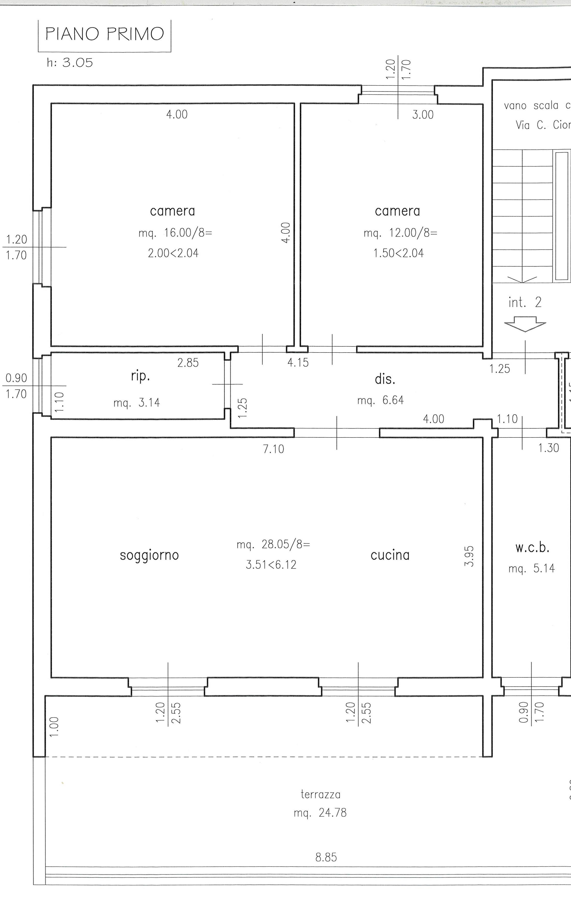 Planimetria 1/2 per rif. 2283