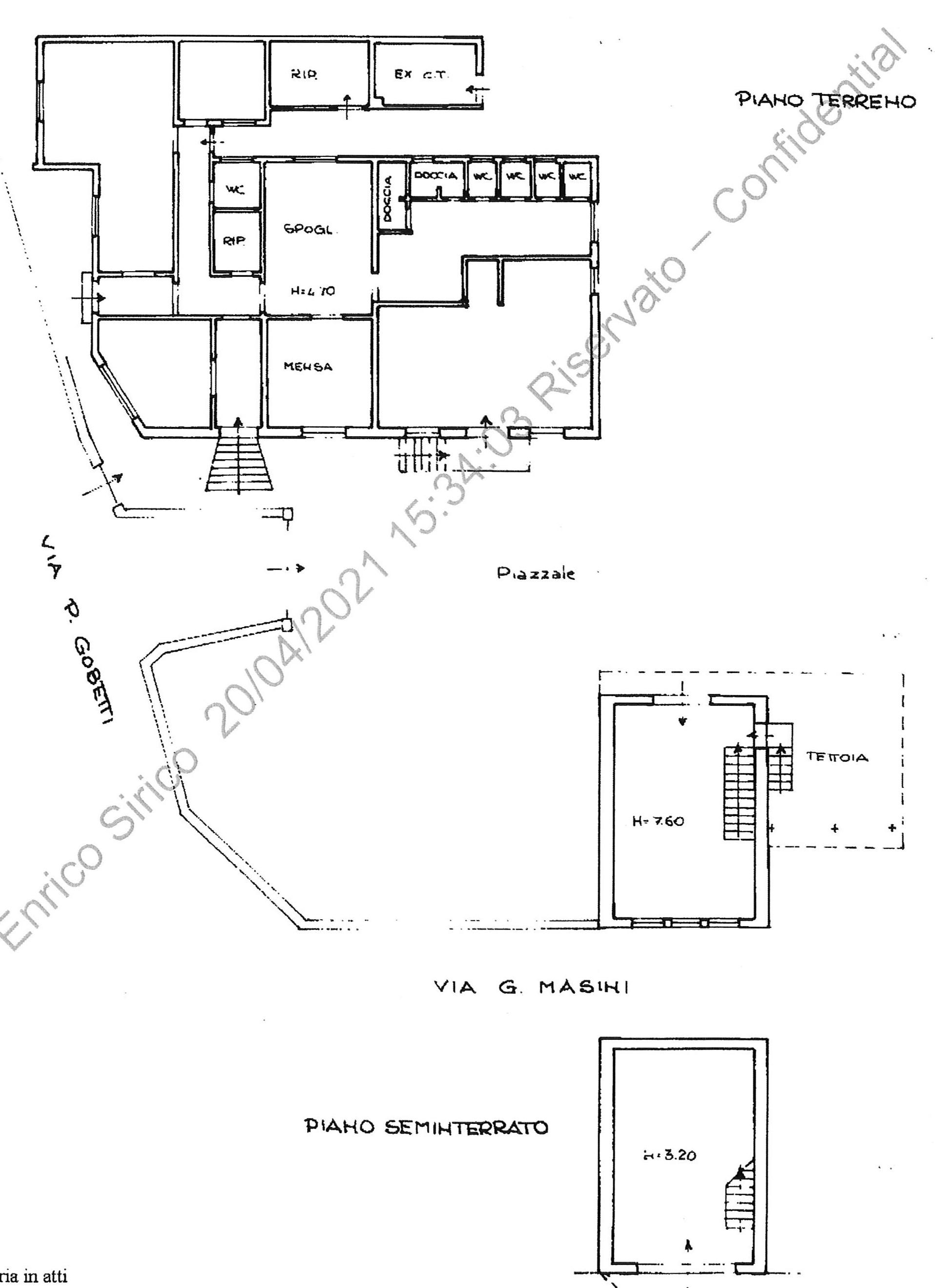 Planimetria 1/2 per rif. 2290