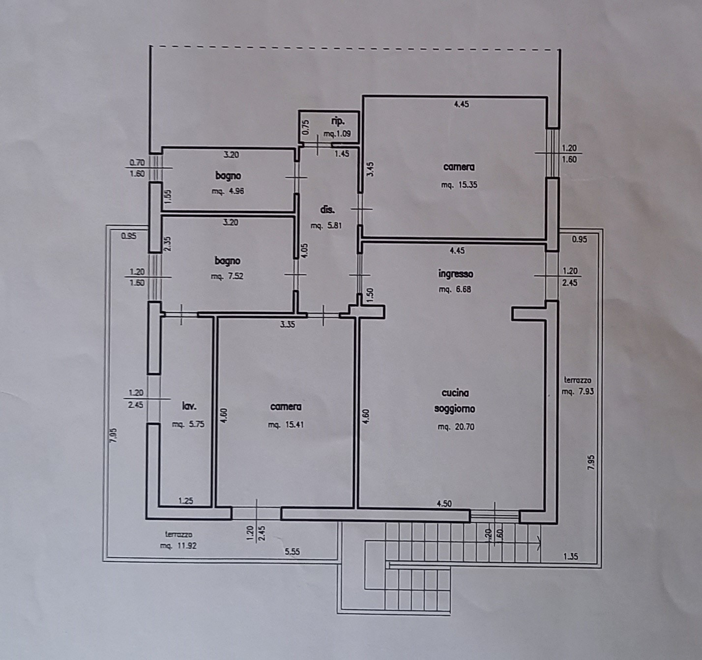 Planimetria 1/1 per rif. 2300