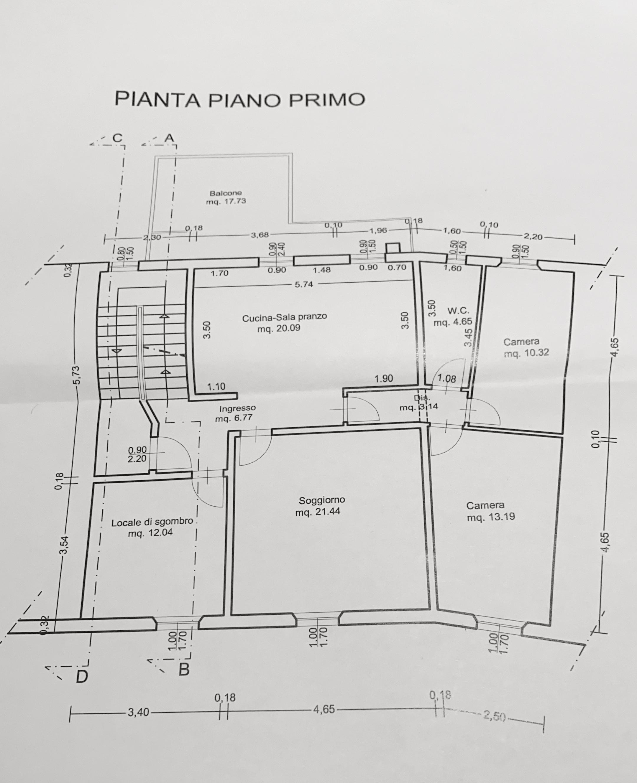 Planimetria 1/1 per rif. 2302