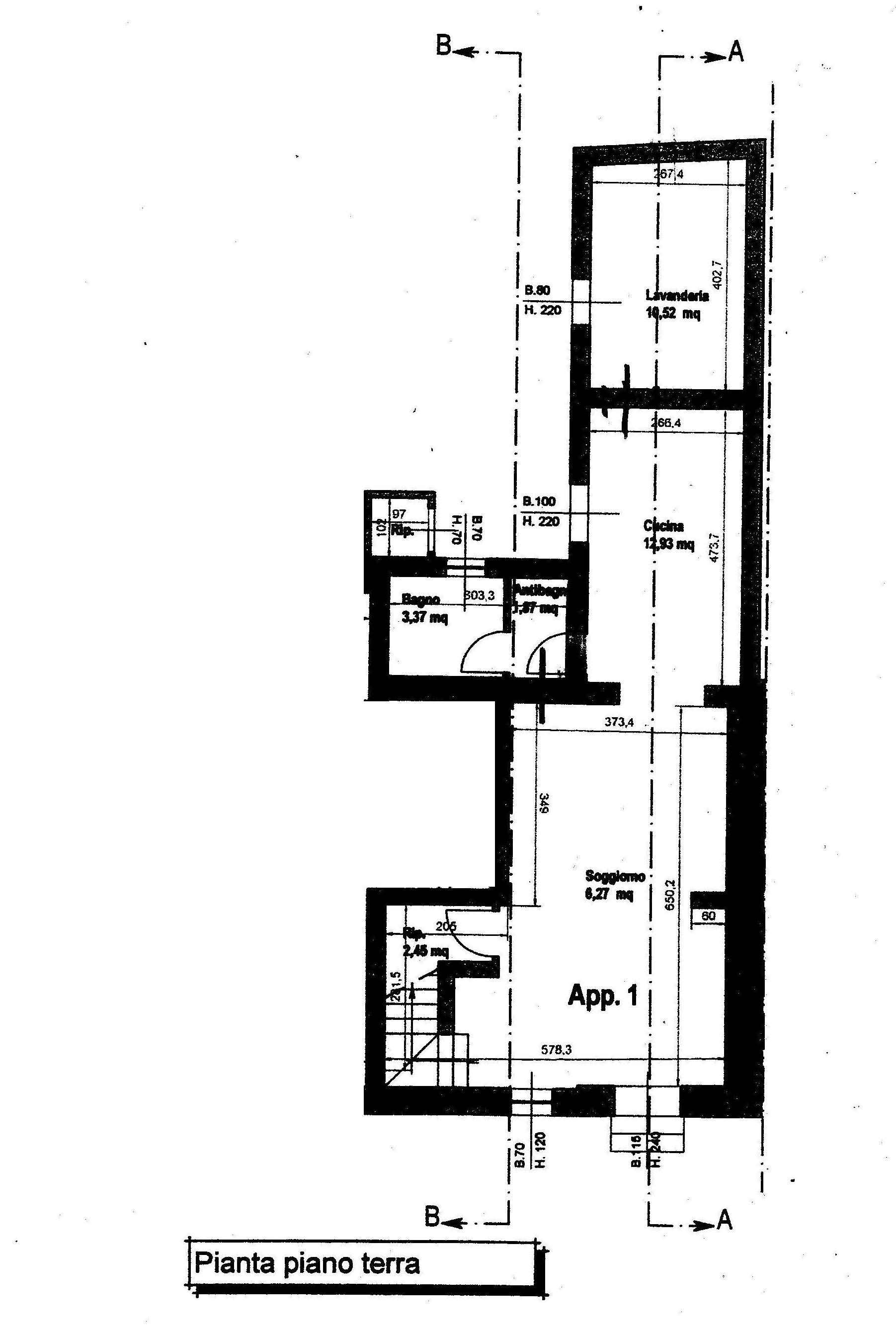 Planimetria 1/2 per rif. 793