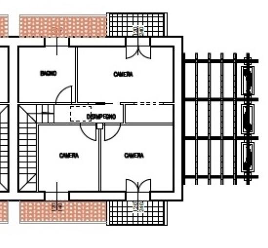 Planimetria 2/3 per rif. 1606