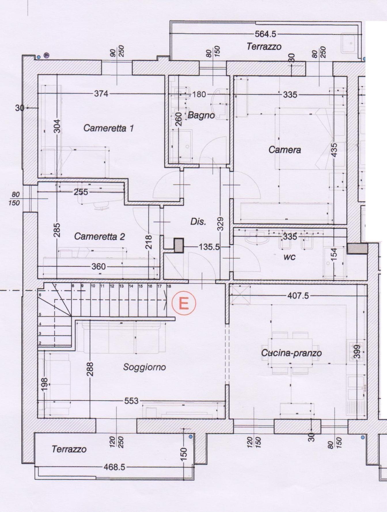 Planimetria 1/2 per rif. 502