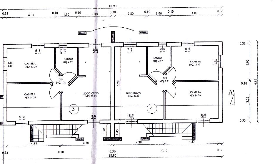 Planimetria 1/2 per rif. 314