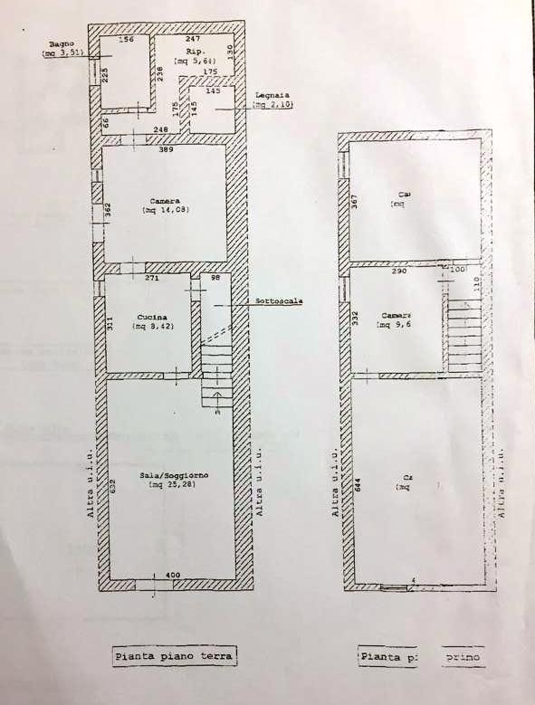 Planimetria 1/2 per rif. 767