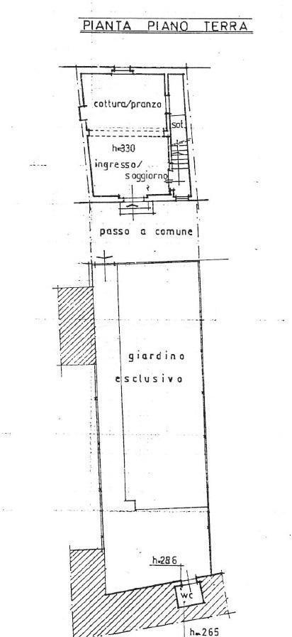 Terratetto in vendita, rif. 775 (Planimetria 1/2)
