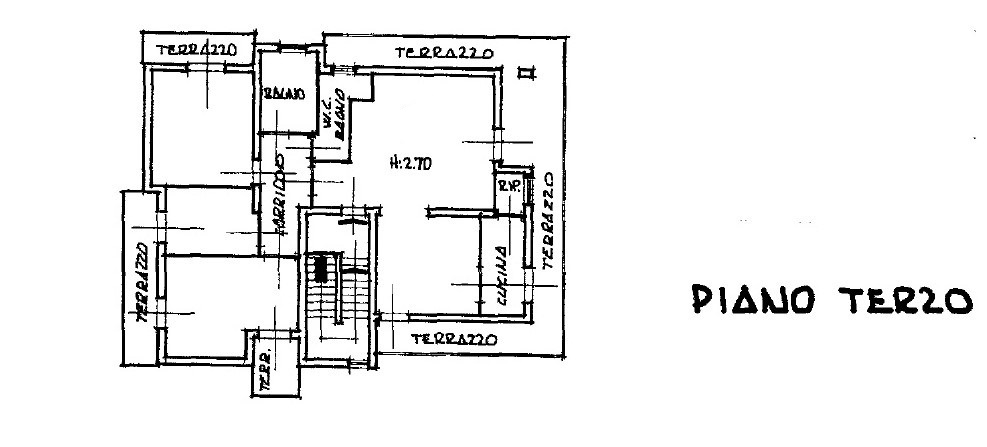 Planimetria 1/3 per rif. 503