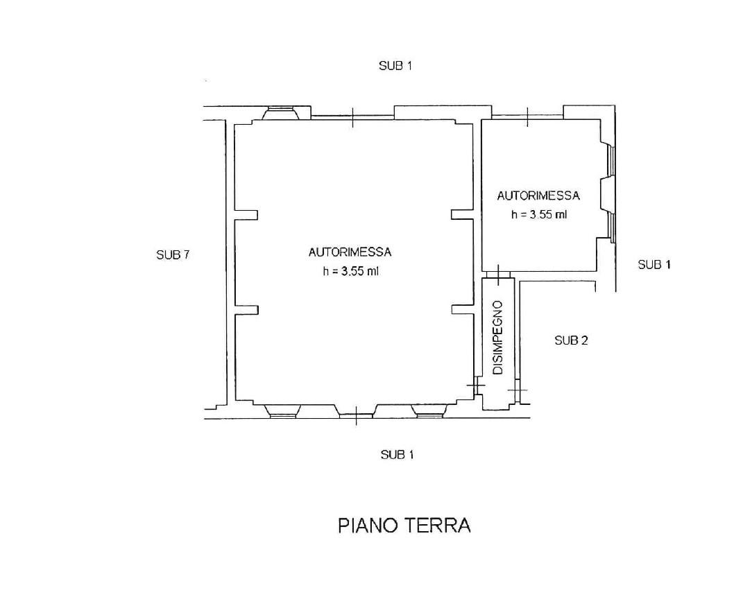 Planimetria 2/5 per rif. 1003