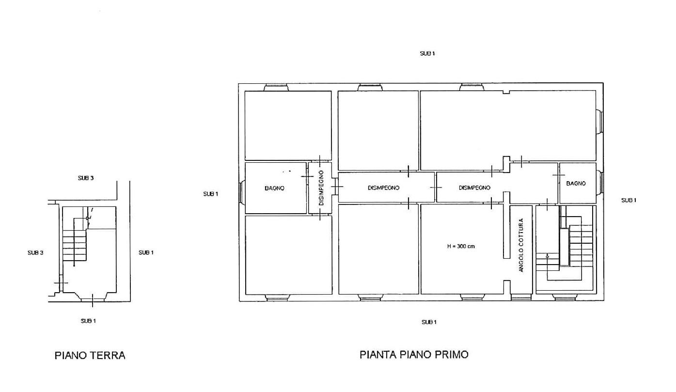 Planimetria 1/5 per rif. 1003