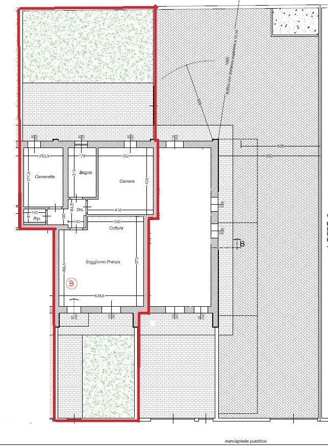 Planimetria 1/2 per rif. 153