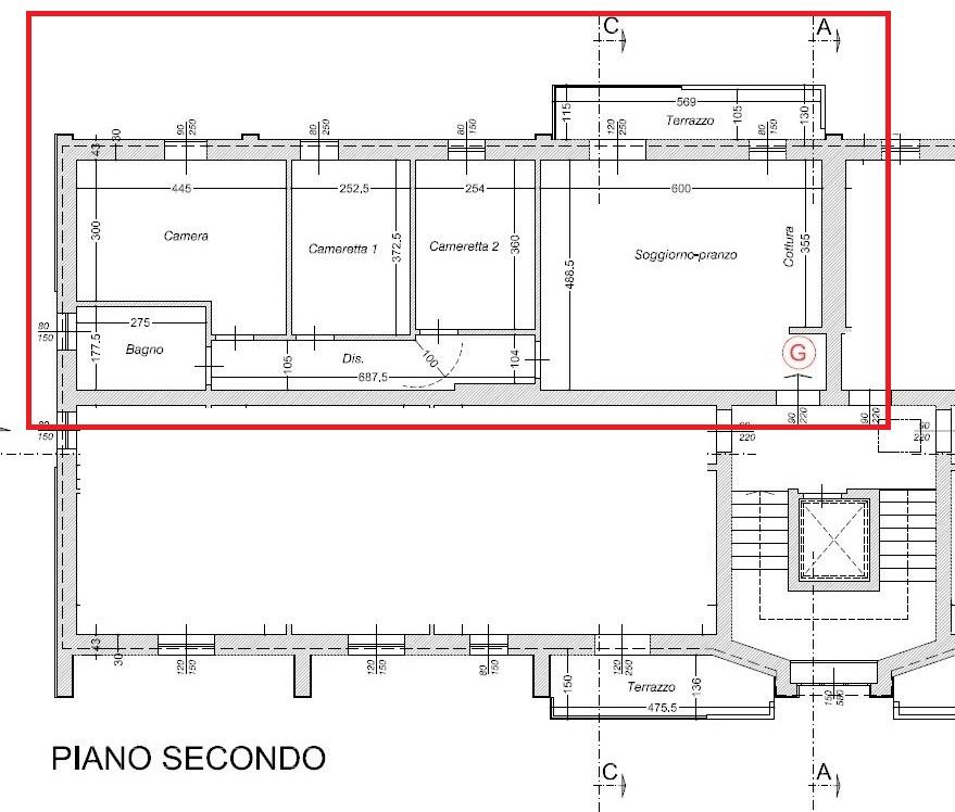 Planimetria 1/3 per rif. 303