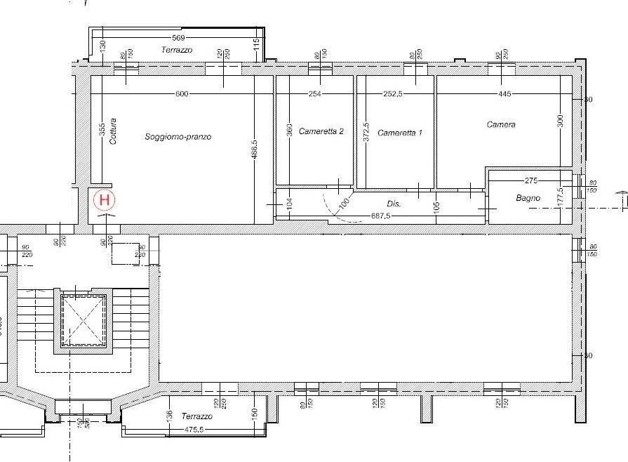 Planimetria 1/3 per rif. 309