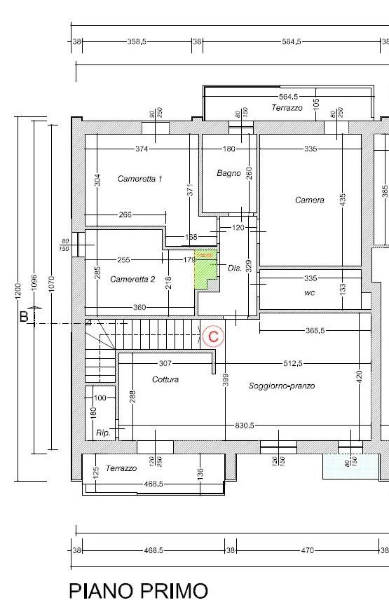 Planimetria 1/3 per rif. 508