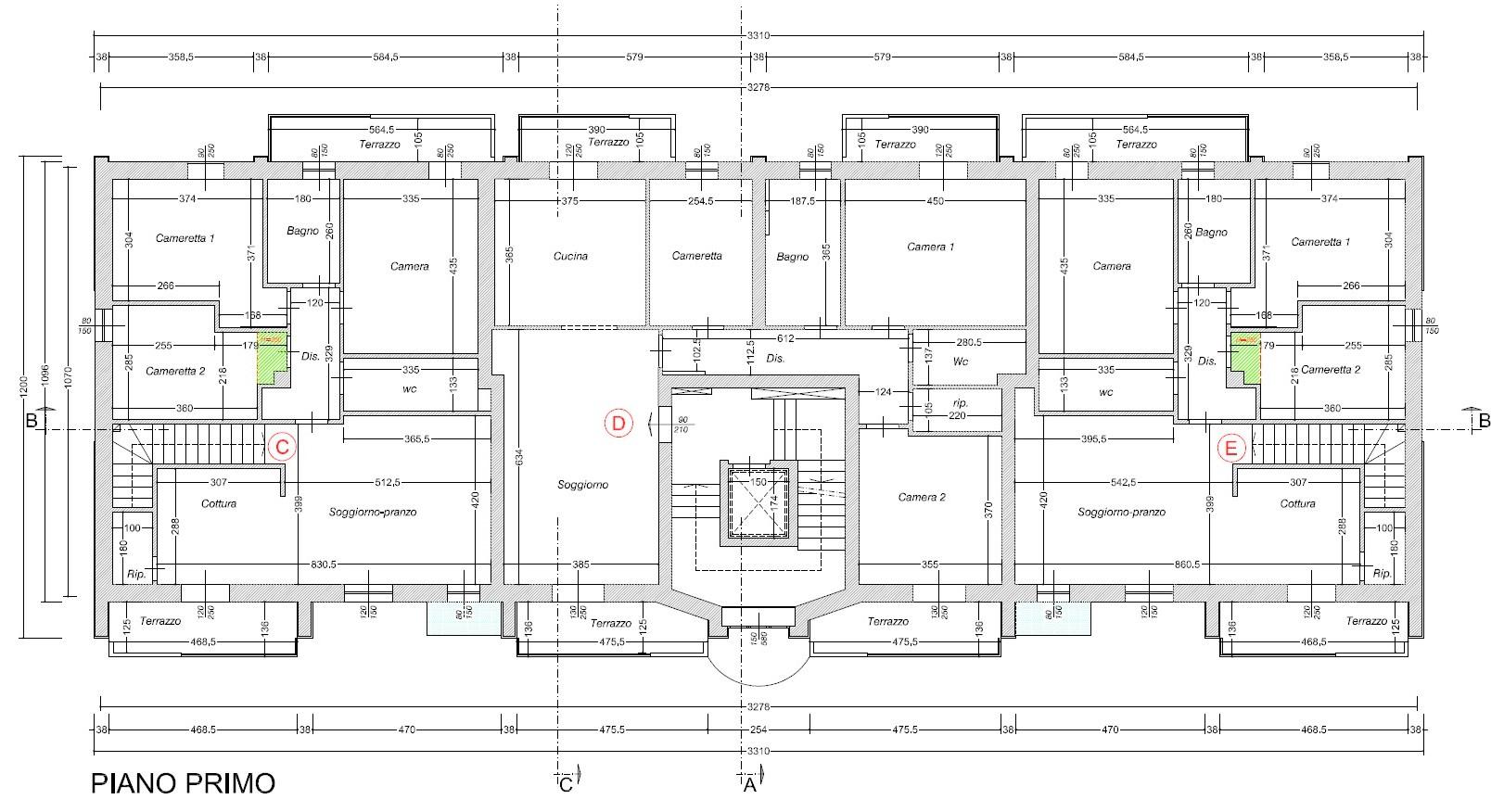Planimetria 2/3 per rif. 511